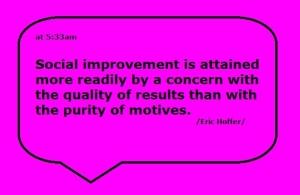 social improvement